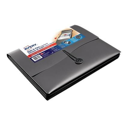 Avery Slide & View Expanding Folder, Durable Poly, Fits Letter Size, Holds 50 Sheets