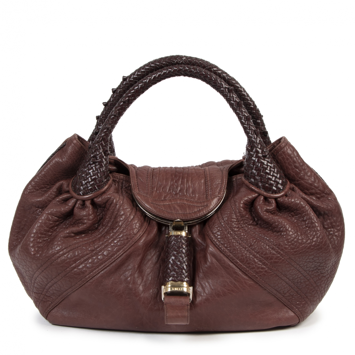 Fendi Spy Handtasche in  Bordeauxrot Leder