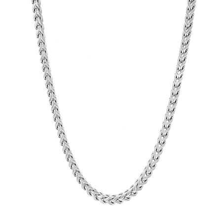 Stainless Steel 24 Inch Solid Link Chain Necklace, One Size , No Color Family