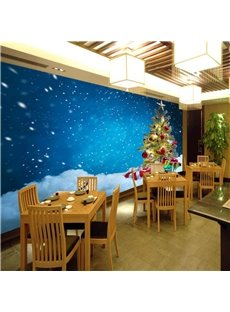 Non-woven Christmas Tree 3D Wall Mural Eco-friendly Mould-Proof Home Decoration