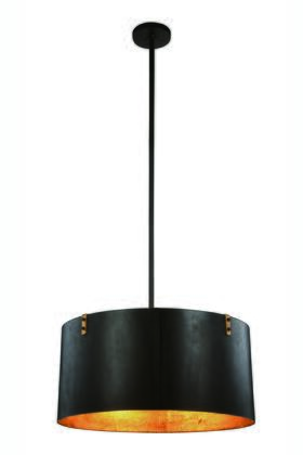 1482D26VB Hudson Collection Pendant Lamp D:26 H:59 Lt:4 Vintage Bronze & Golden Iron