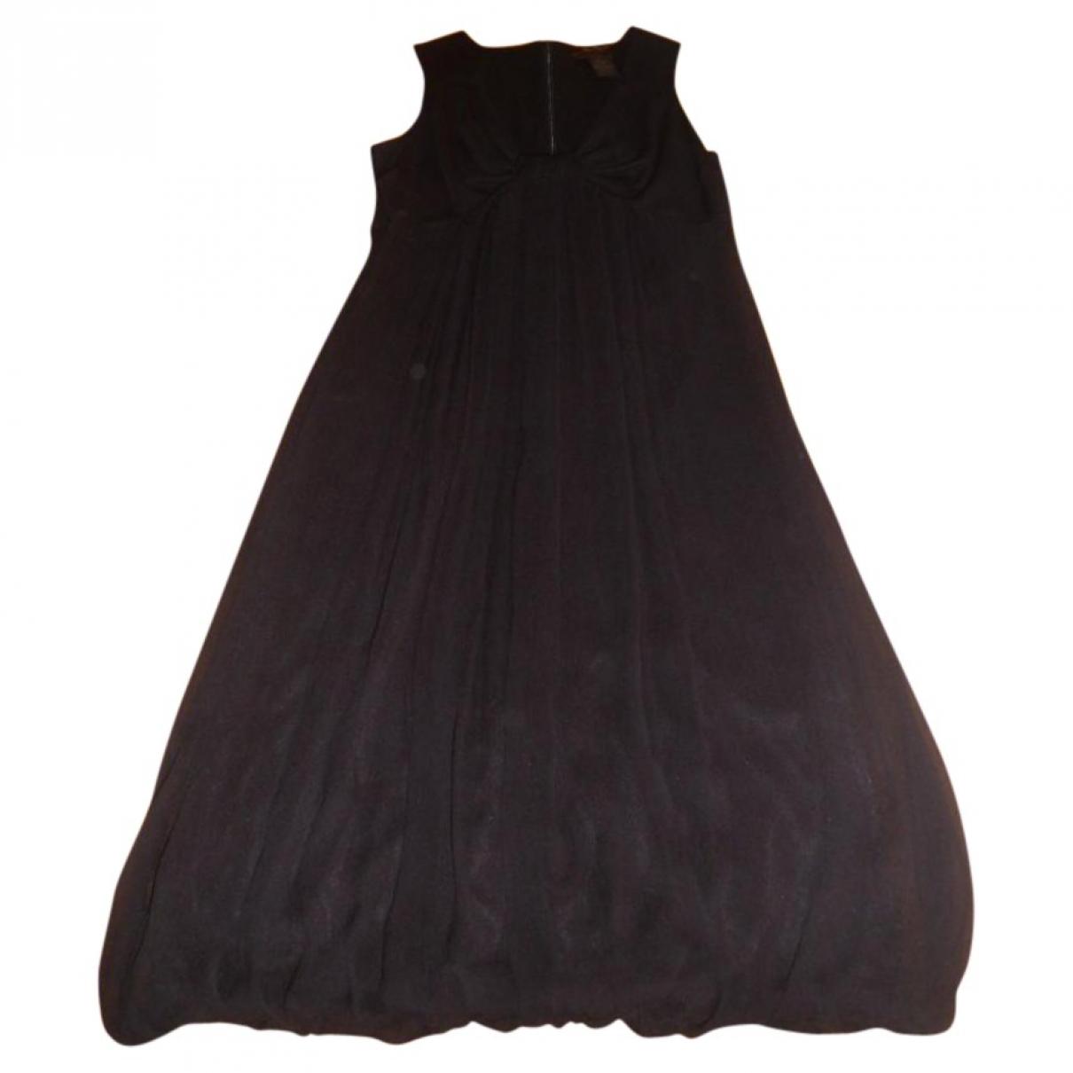 Max Mara Max Mara Atelier Black Silk dress for Women 38 FR