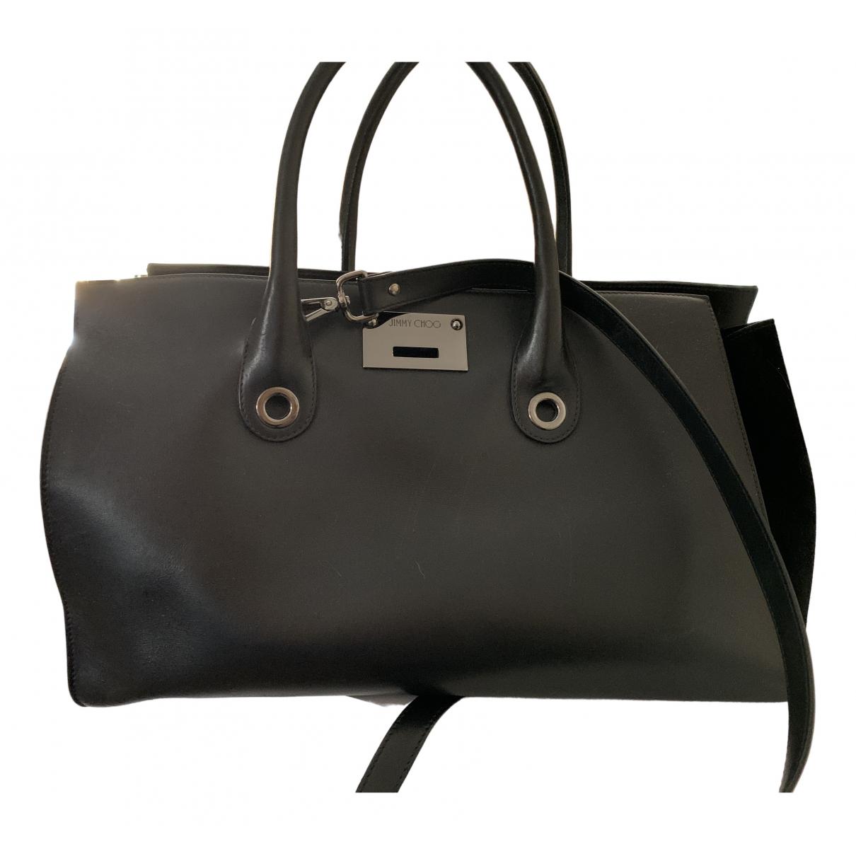 Jimmy Choo Rebel Handtasche in  Schwarz Leder