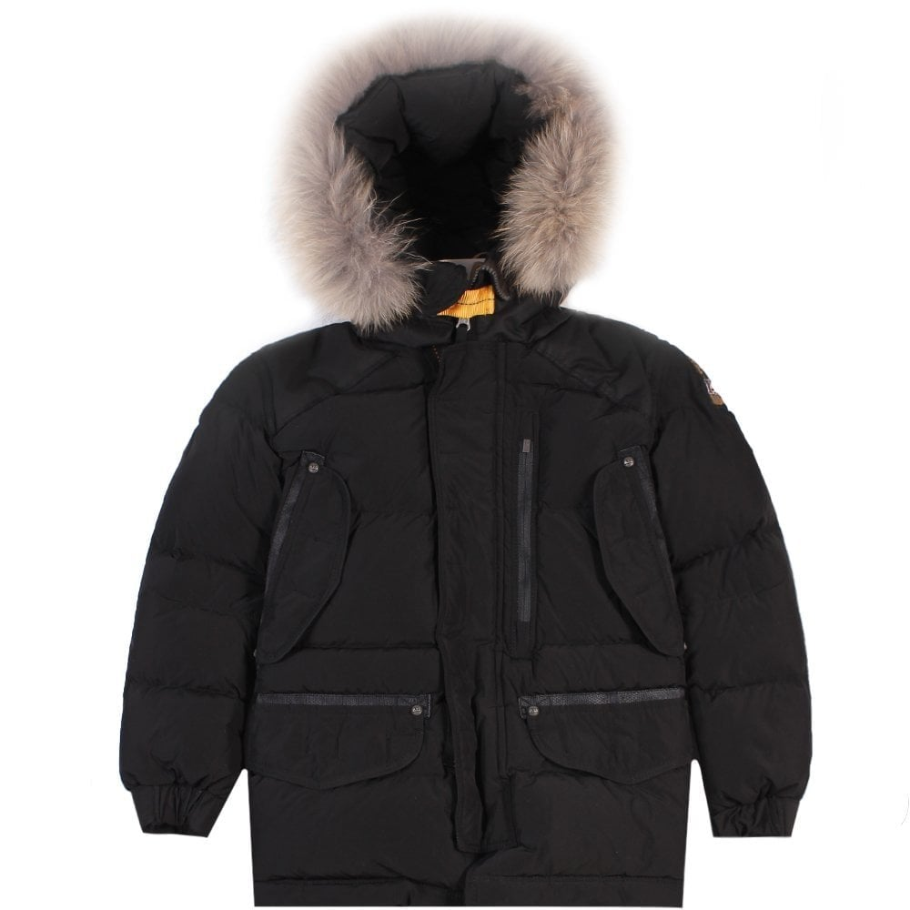 Parajumpers Kids Harraseeket Jacket Black Colour: BLACK, Size: 4 YEARS