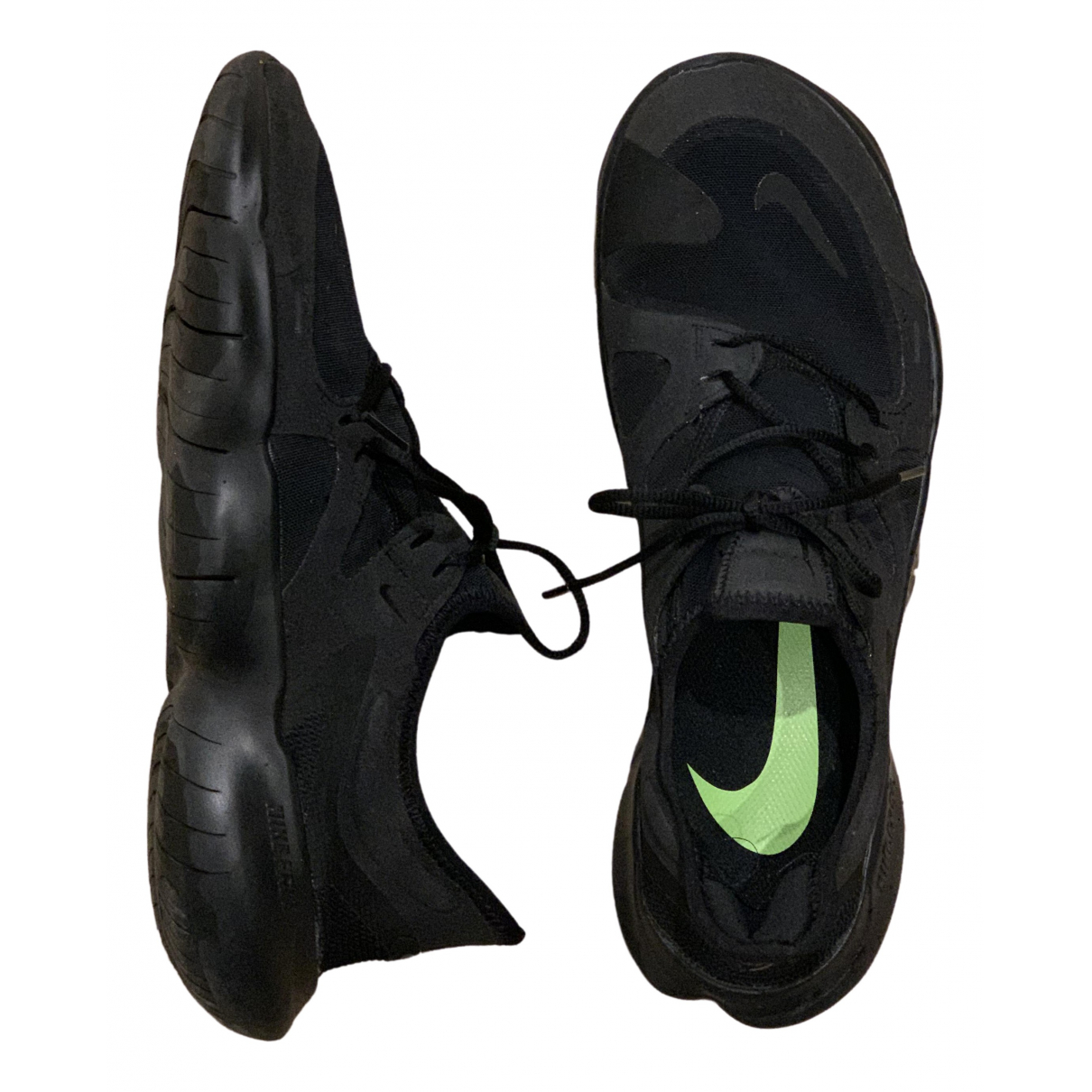 Nike Free Run Black Cloth Trainers for Men 10.5 US