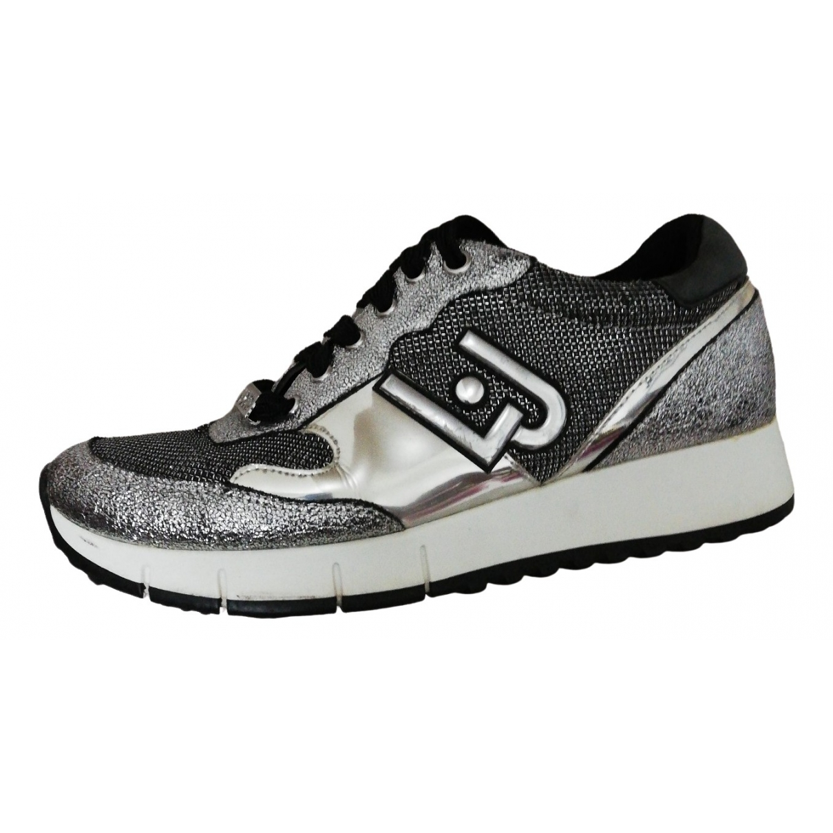 Liu.jo \N Silver Leather Trainers for Women 38 EU