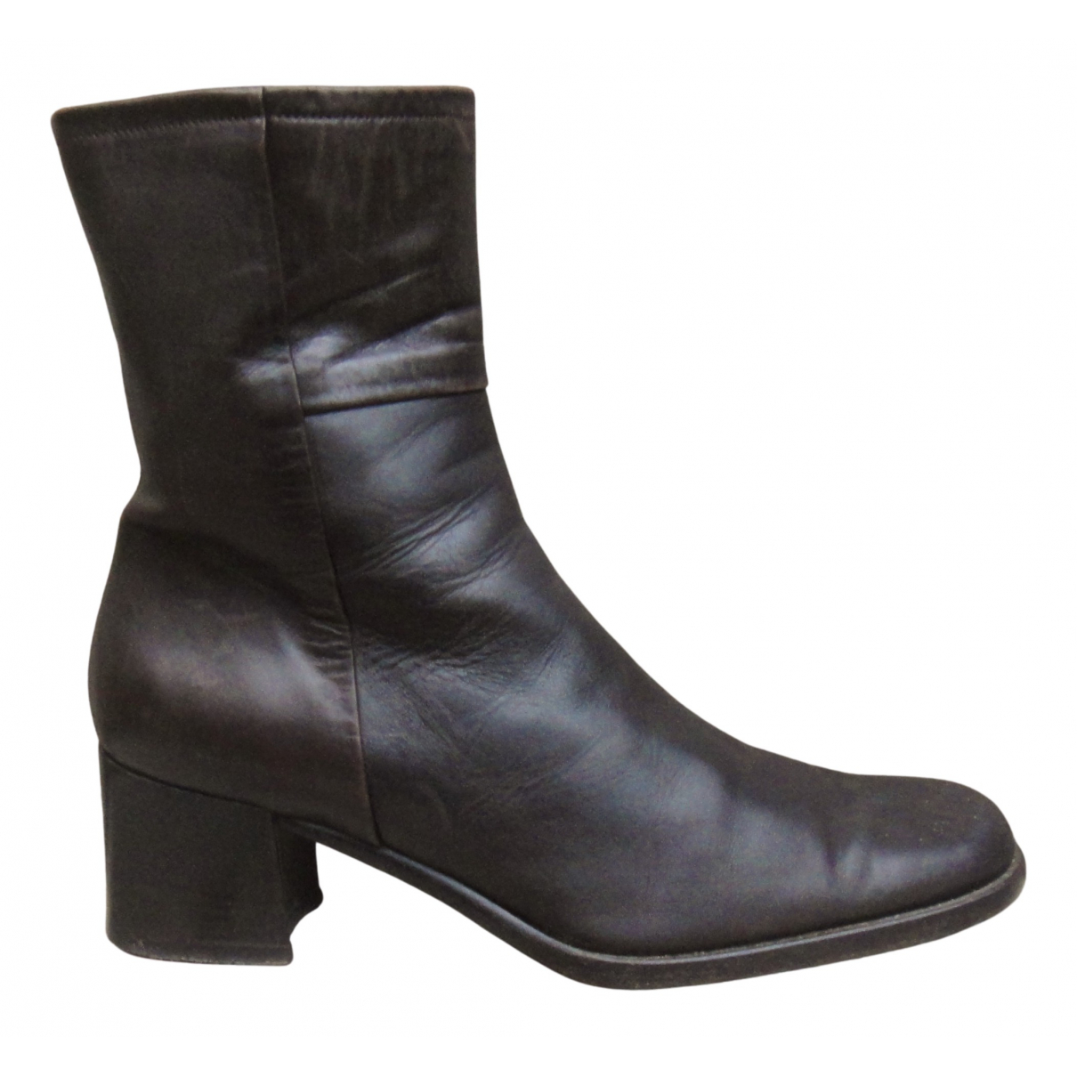 Bally N Brown Leather Ankle boots for Women 39 EU