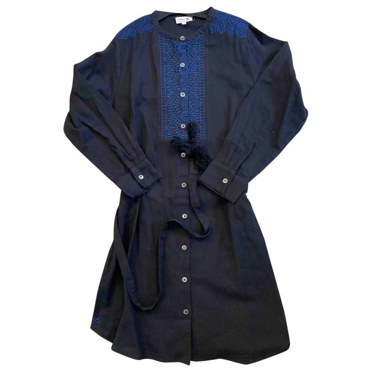 Soeur - Robe    pour enfant en coton - noir