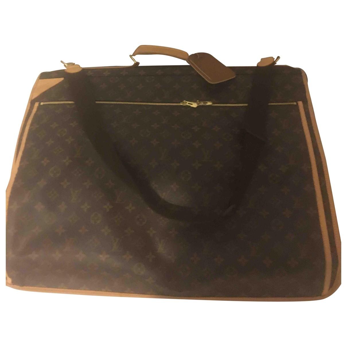 Louis Vuitton Garment Brown Cloth Travel bag for Women \N