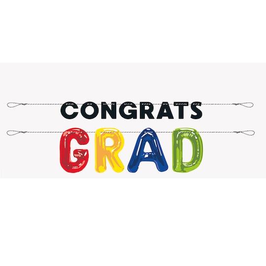 Congrats Graduation Letter Banner Set, 2Pc By Unique | Michaels®