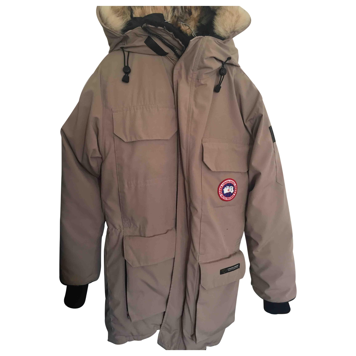 Canada Goose Expedition Beige Fur jacket for Women XS International