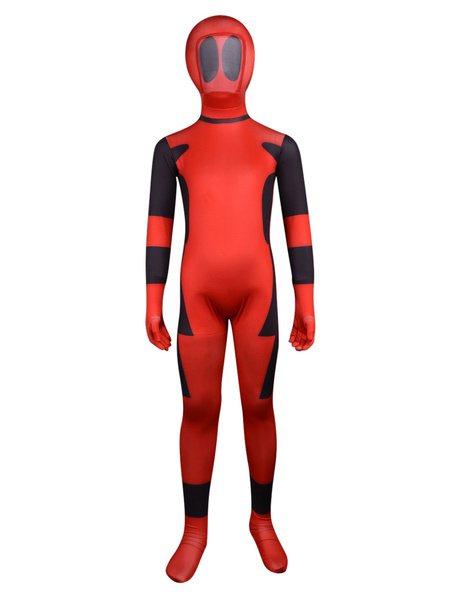Milanoo Halloween Unisex Multi Color Lycra Kids' Multicolor Full Body Zentai Suits Halloween