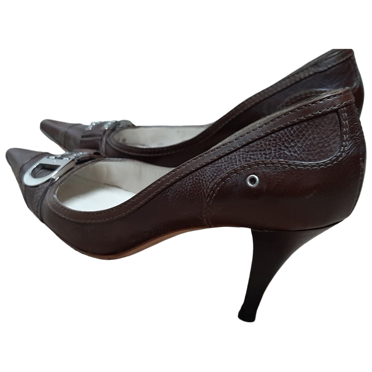 Dior \N Pumps in  Braun Leder