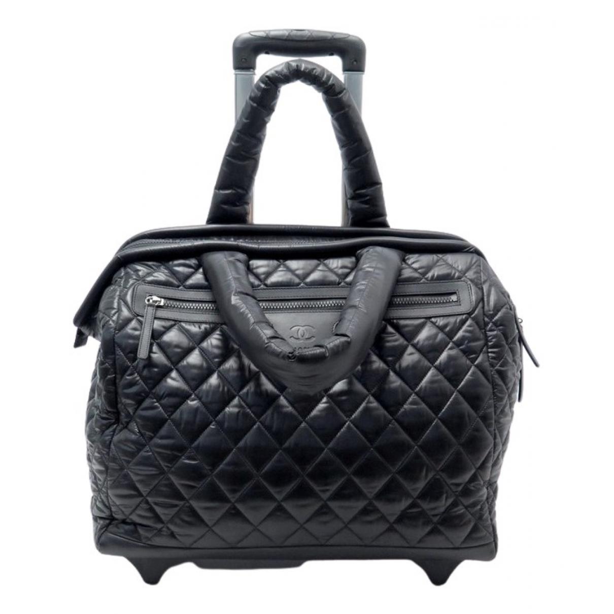 Chanel - Sac de voyage Coco Cocoon pour femme en toile - noir