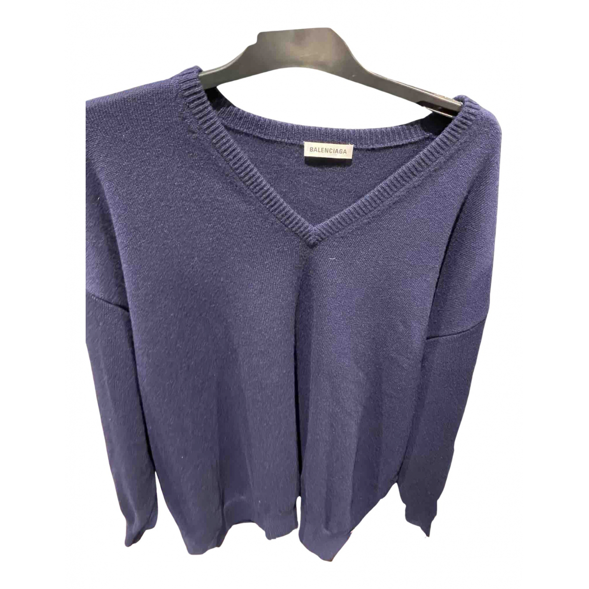 Balenciaga N Navy Cashmere Knitwear for Women M International