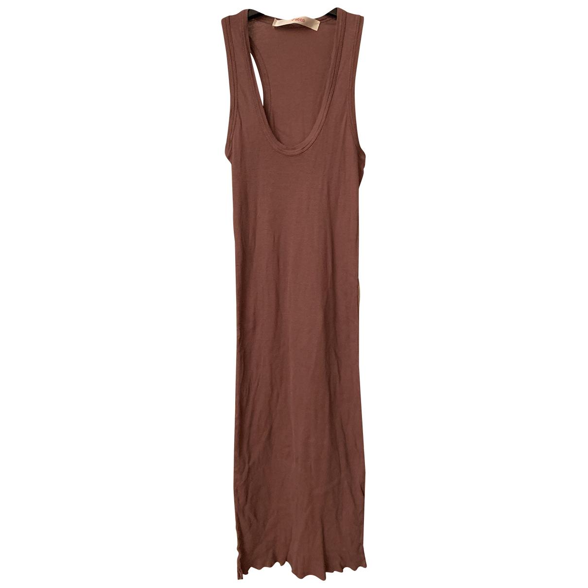Jucca \N Kleid in  Braun Baumwolle - Elasthan