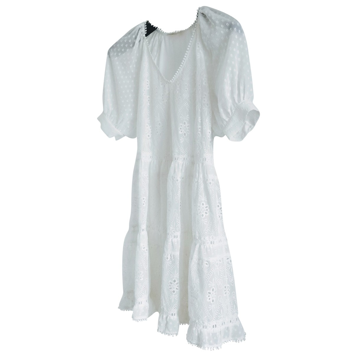 Maje Spring Summer 2019 White Lace dress for Women 36 FR