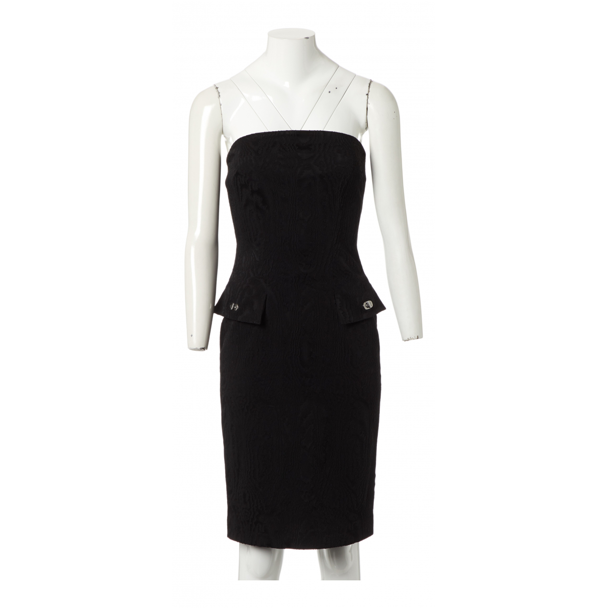 Jean Paul Gaultier \N Kleid in  Schwarz Viskose