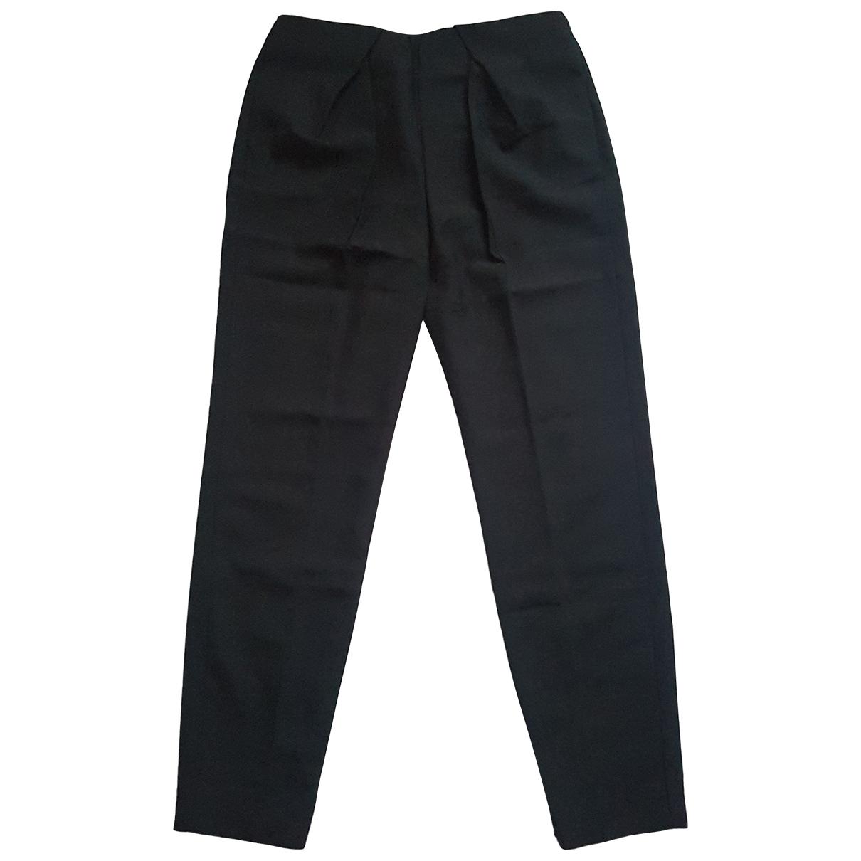 Balenciaga \N Black Trousers for Women 40 FR