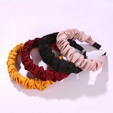 4 piezas aro de pelo unicolor