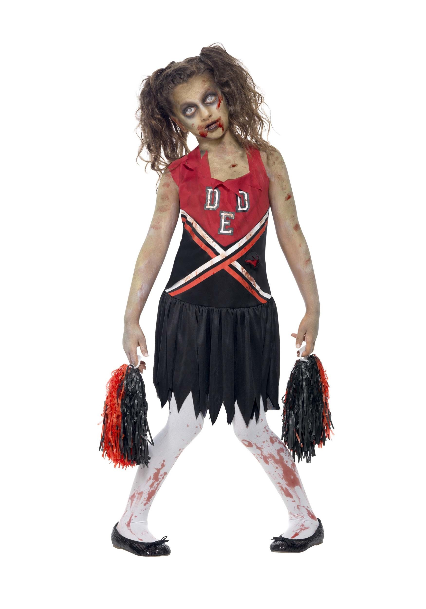 Zombie Cheerleader Costume for Girl's