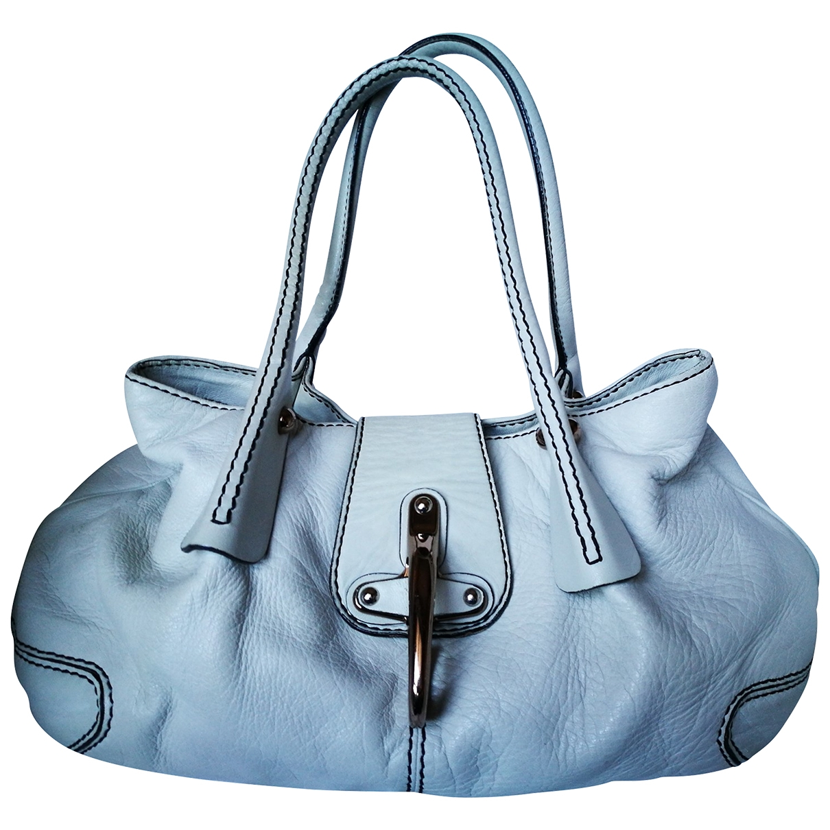 Fay \N Handtasche in  Weiss Leder