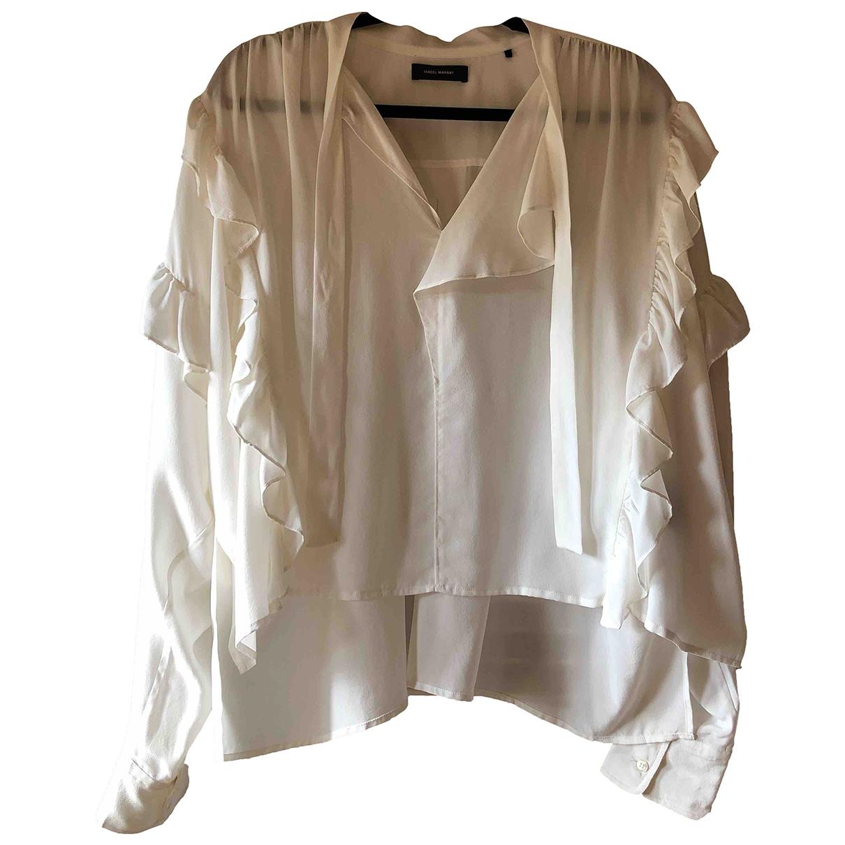 Isabel Marant \N White Silk  top for Women 40 FR