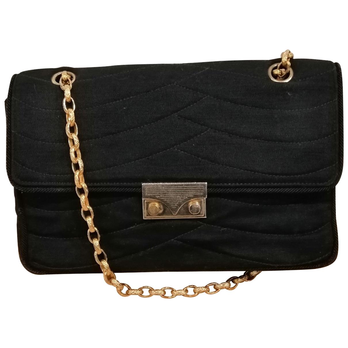 Chanel \N Handtasche in  Marine Wolle