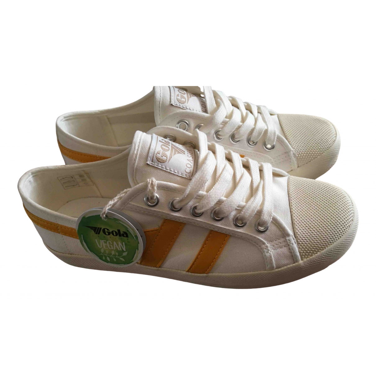 Non Signe / Unsigned \N Sneakers in  Ecru Leinen