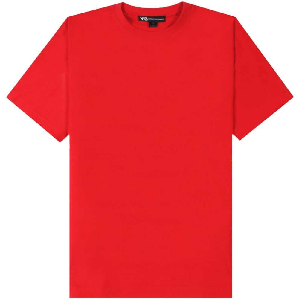 Y-3 Classic Reverse Logo T-Shirt Colour: YOHJI RED, Size: SMALL