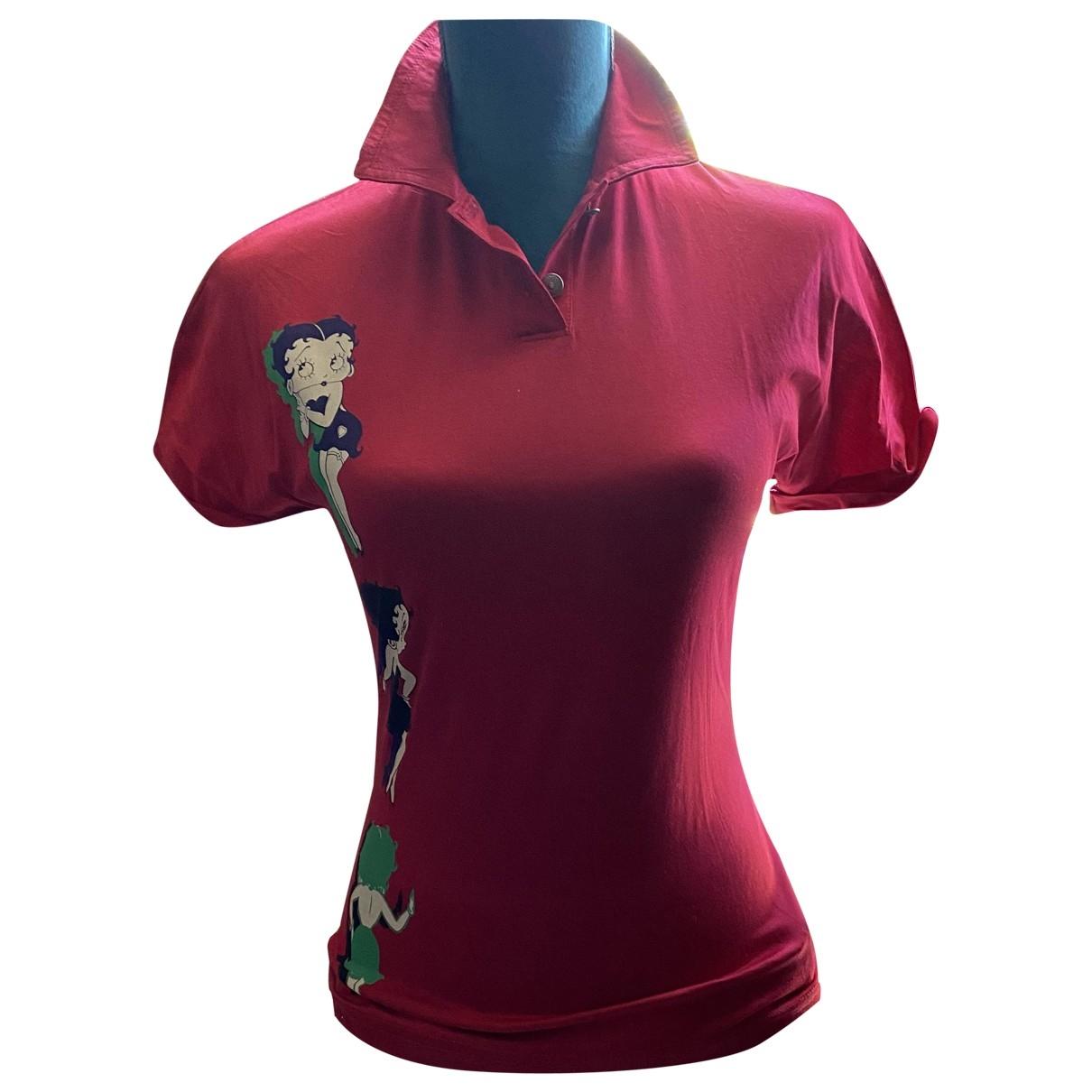 Versace Jean - Top   pour femme en coton - rouge