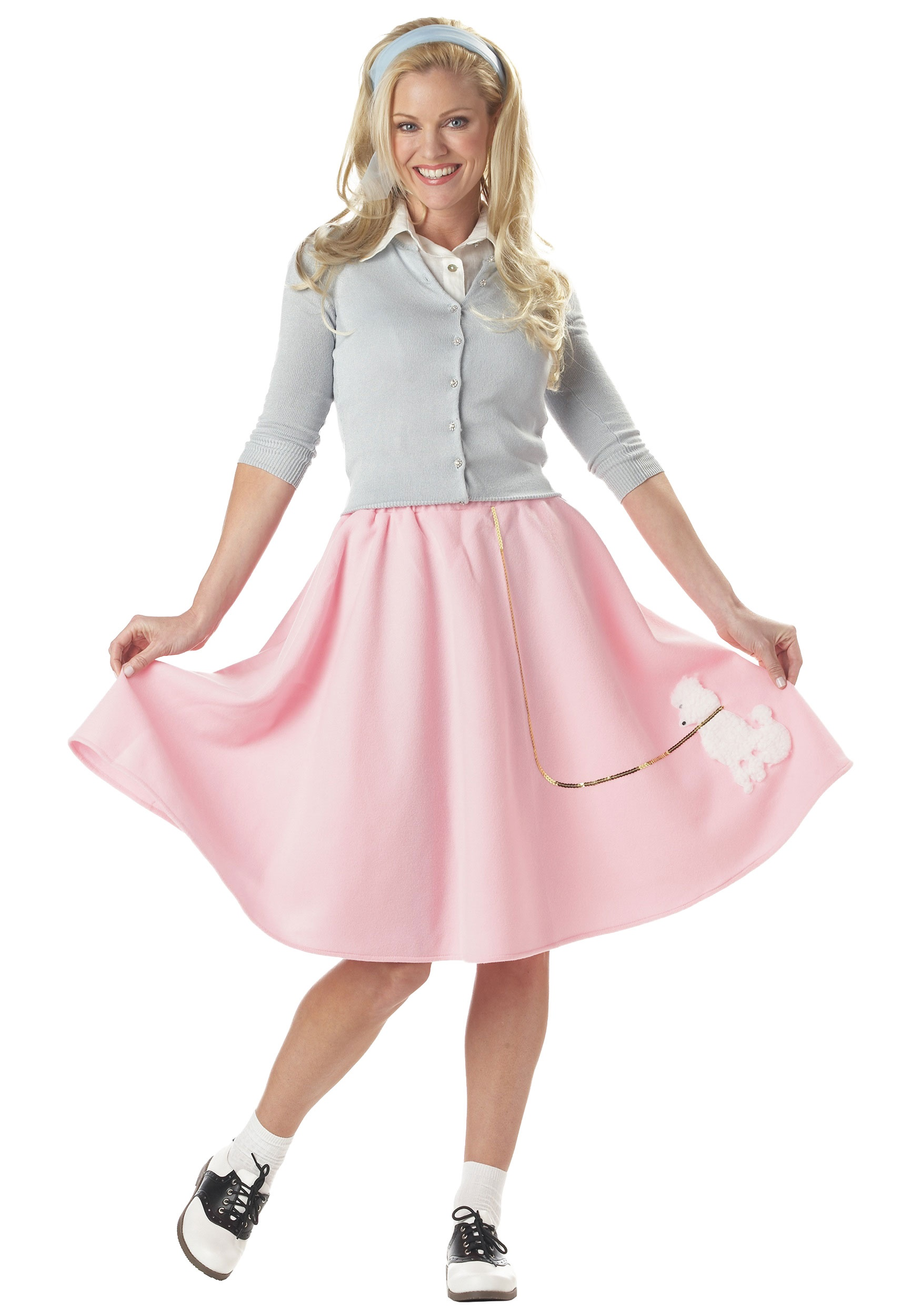 Women's Poodle Skirt Pink Costume