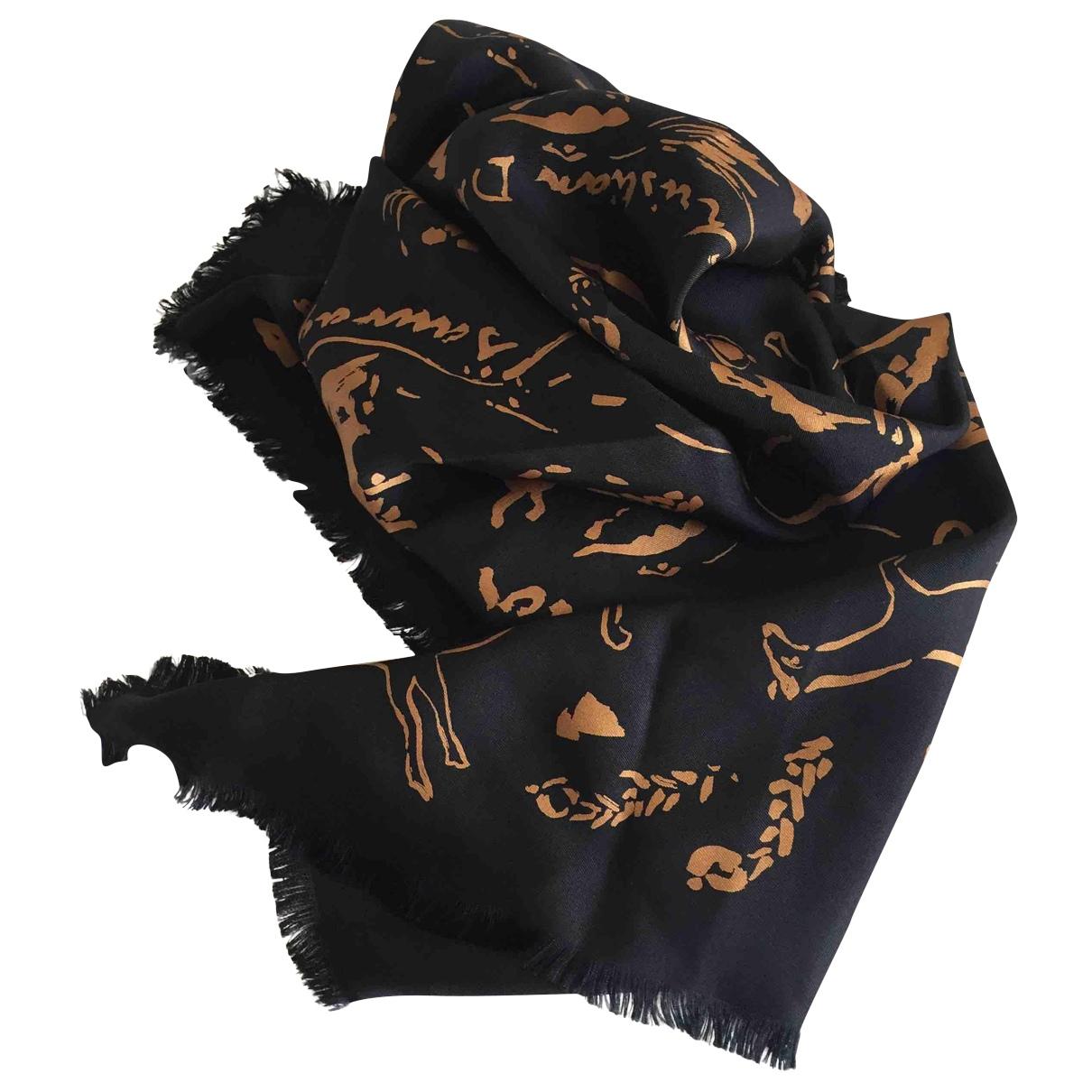 Dior \N Navy Silk Silk handkerchief for Women \N