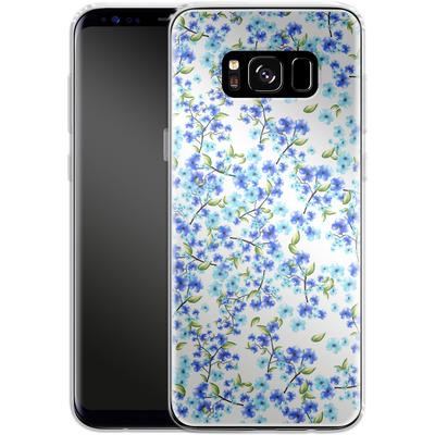 Samsung Galaxy S8 Silikon Handyhuelle - Blue Blooms von Mukta Lata Barua
