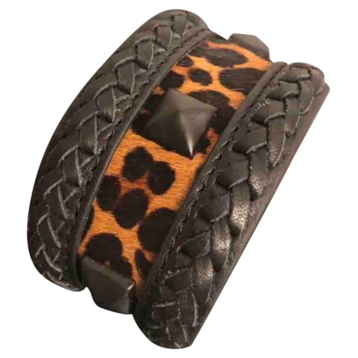 Bimba Y Lola \N Armband in  Schwarz Leder