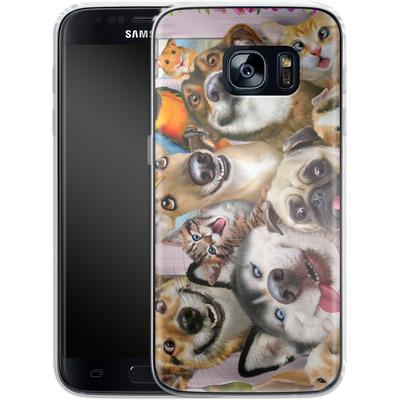 Samsung Galaxy S7 Silikon Handyhuelle - Pet Selfie von Howard Robinson