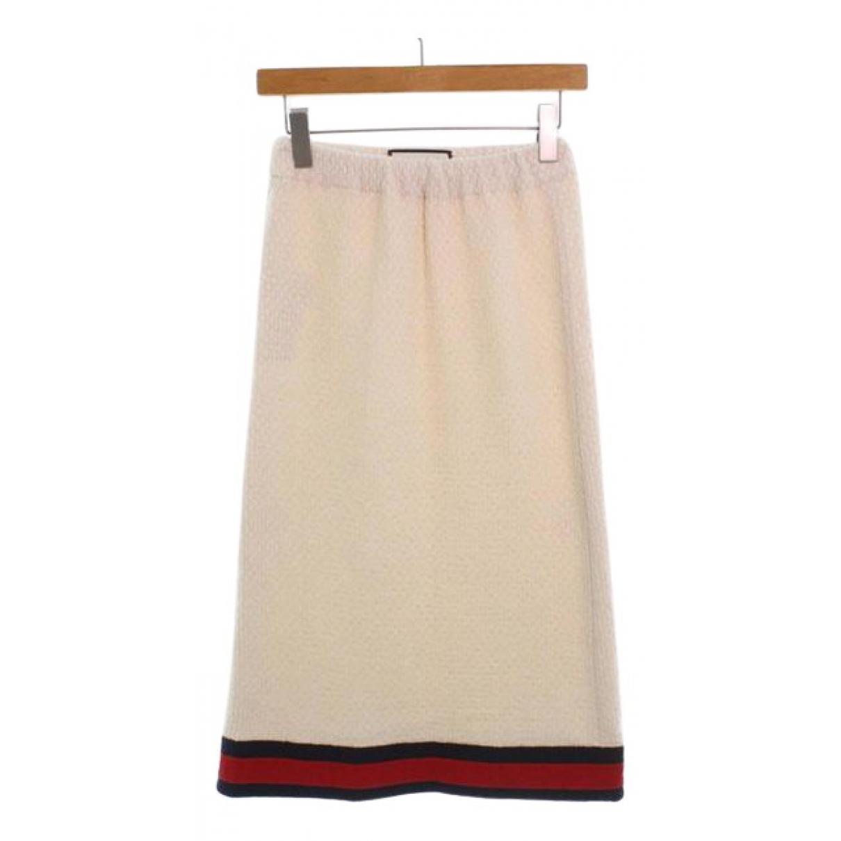 Gucci - Jupe   pour femme en coton - blanc