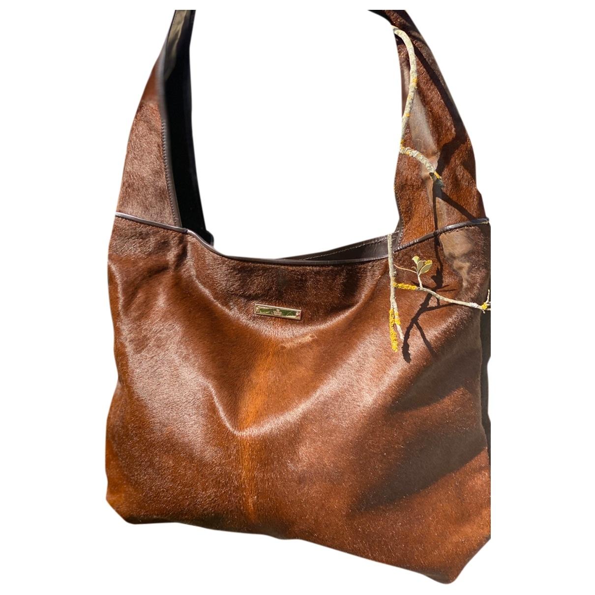 Gucci \N Brown Pony-style calfskin handbag for Women \N