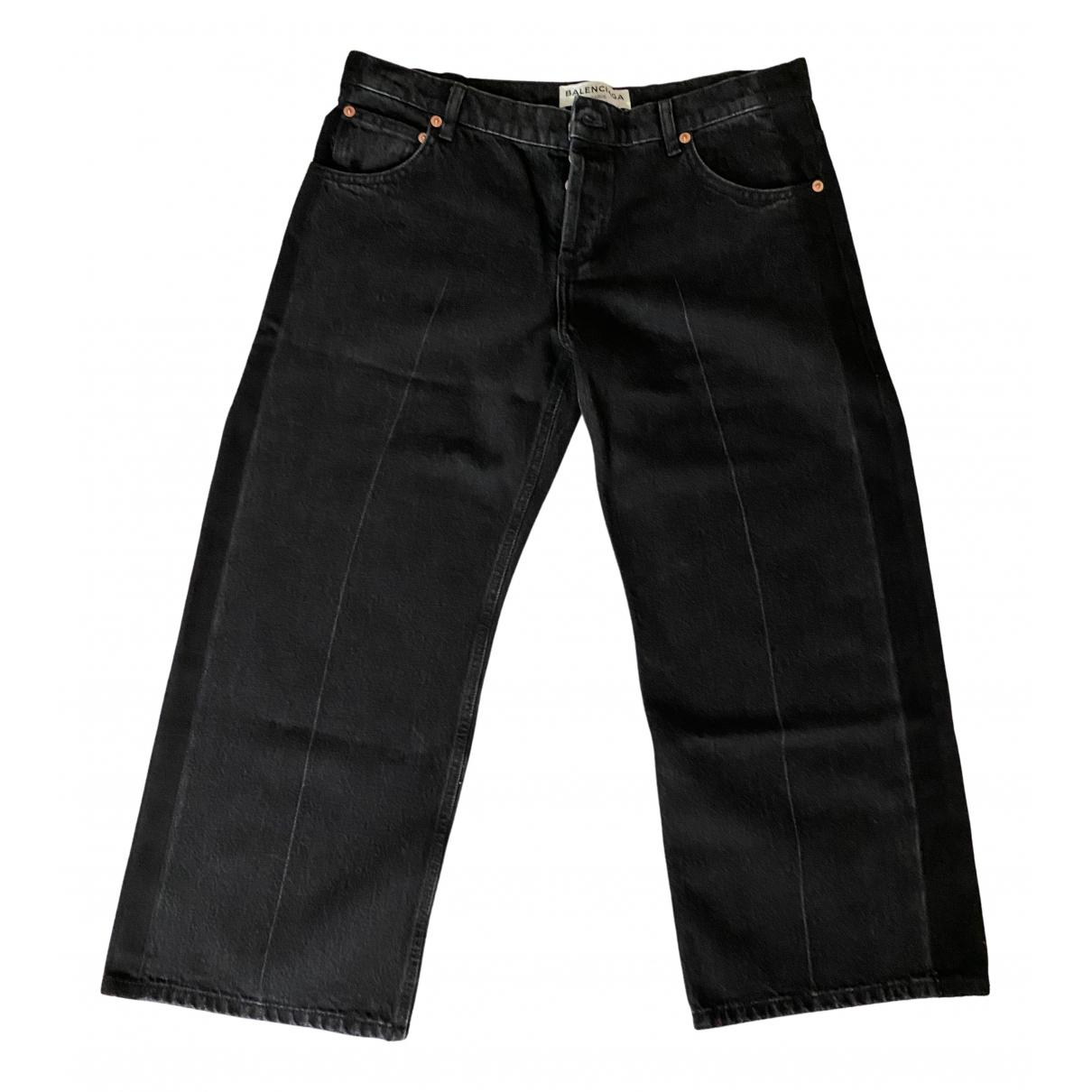 Balenciaga - Jean   pour femme en coton - noir