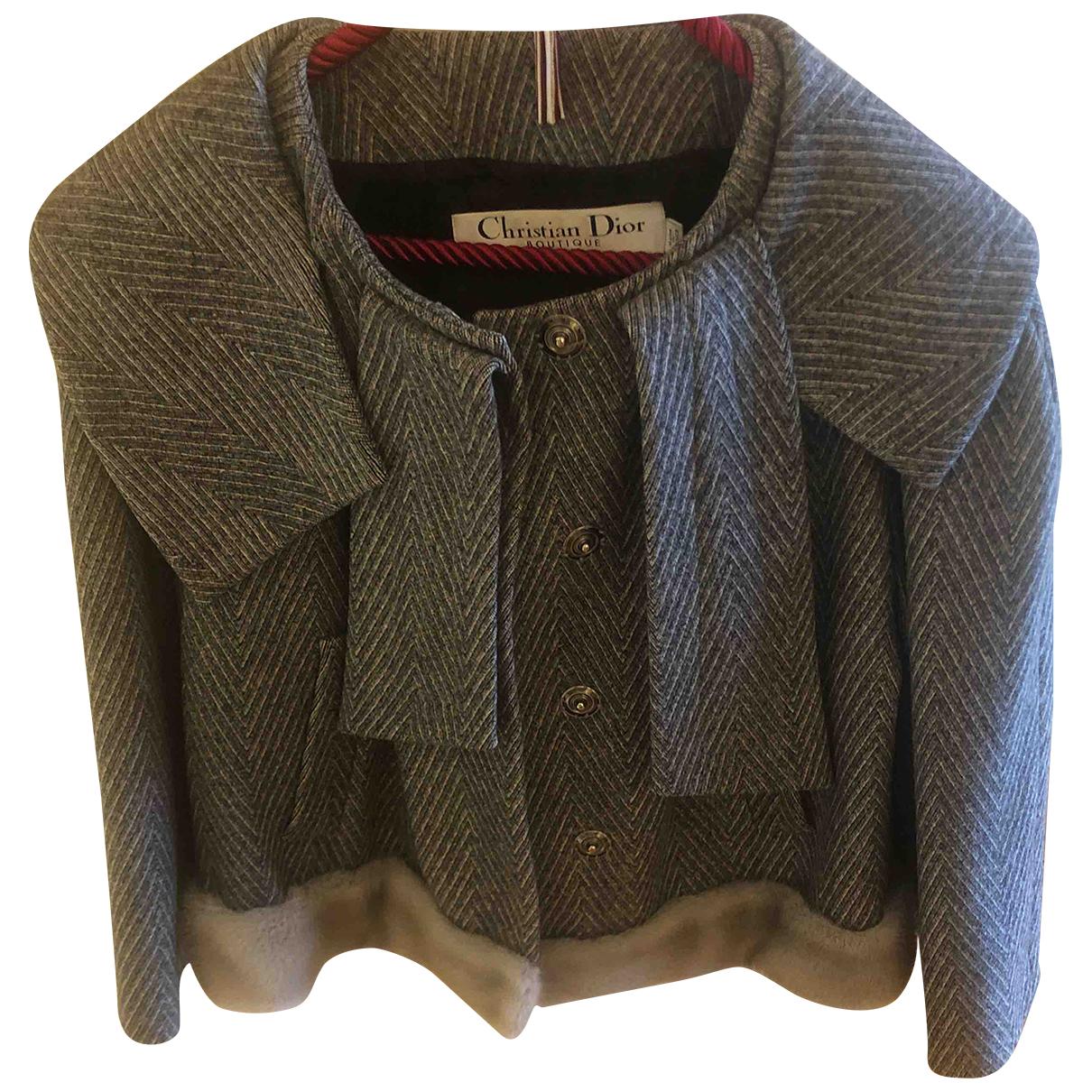 Dior \N Jacke in  Grau Wolle