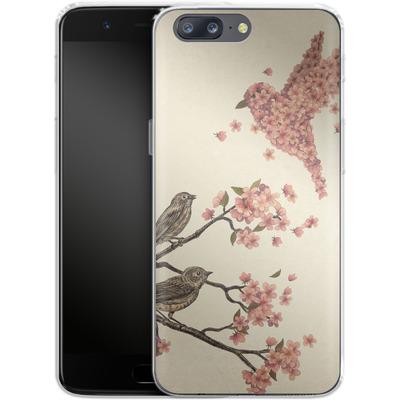 OnePlus 5 Silikon Handyhuelle - Blossom Bird von Terry Fan