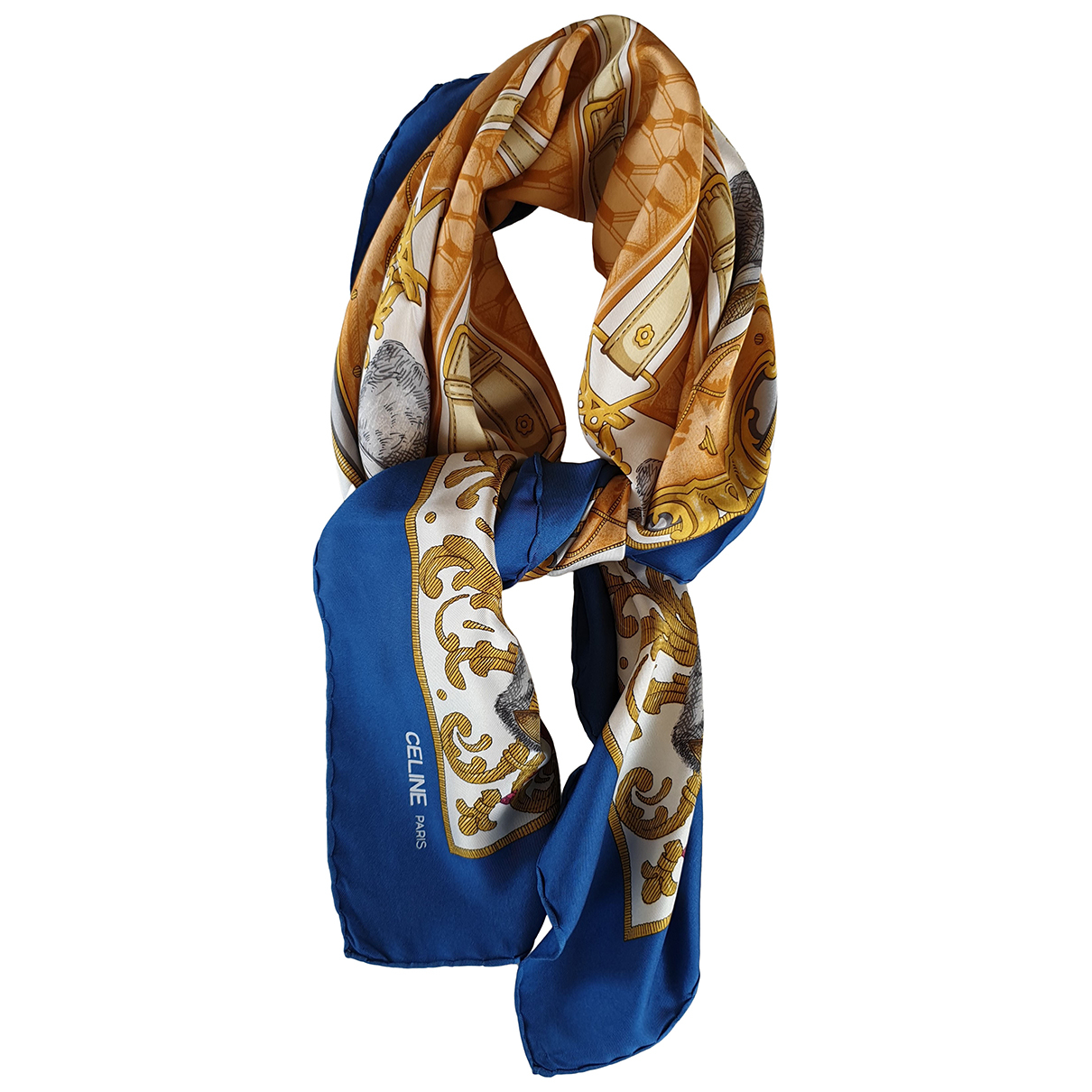 Celine N Blue Silk Silk handkerchief for Women N