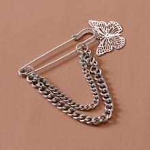 Pulsera con cadena con diseño de mariposa