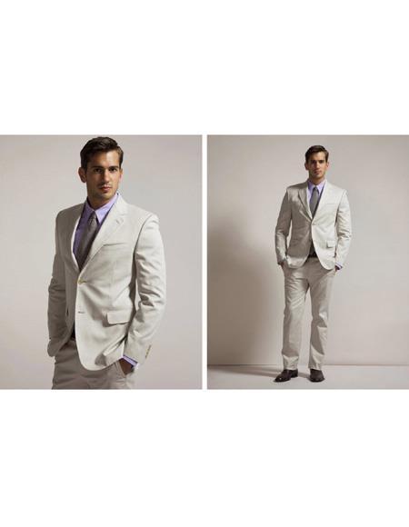 Mens Beach Wedding Attire Suit Menswear Ivory 199