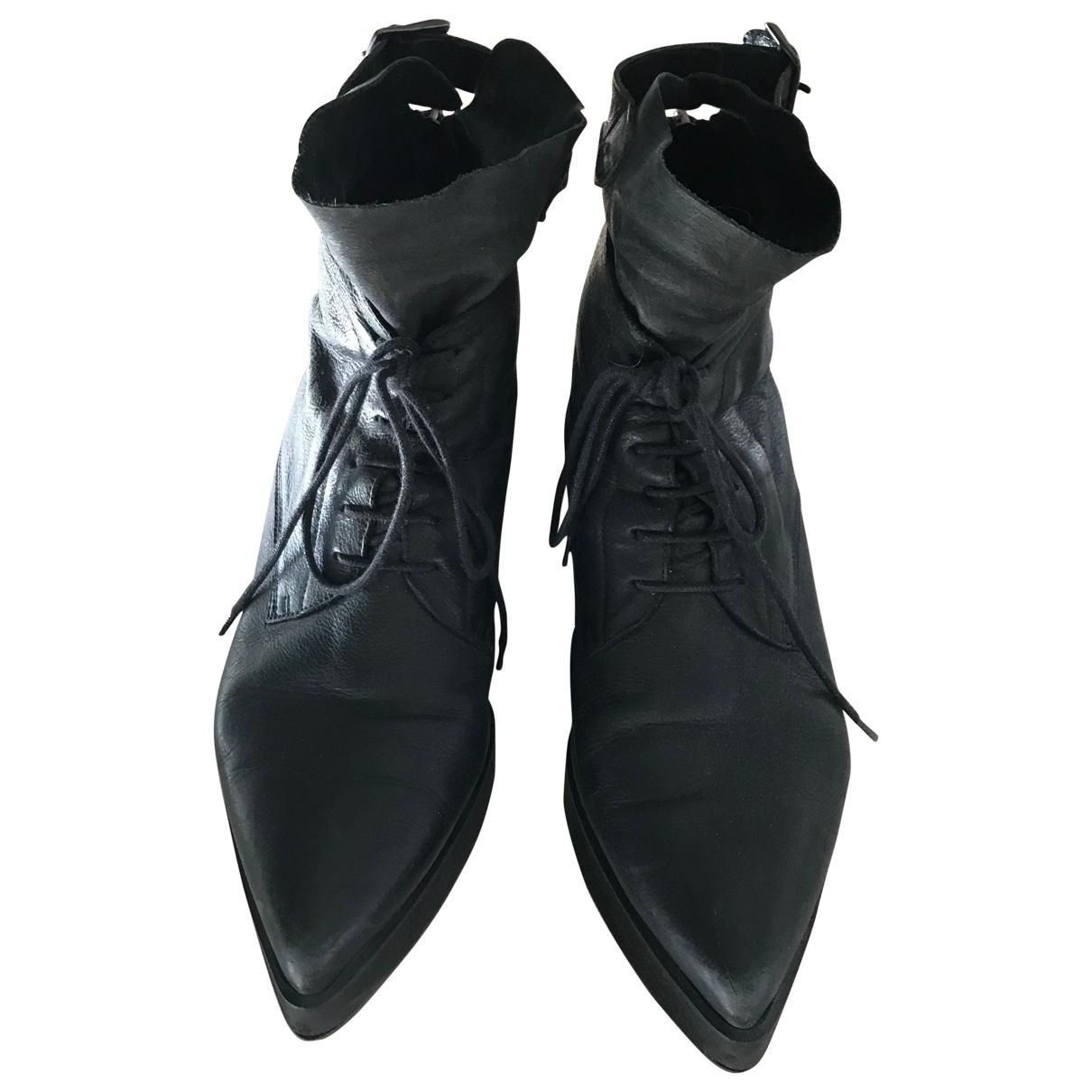 Dondup - Boots   pour femme en cuir - noir