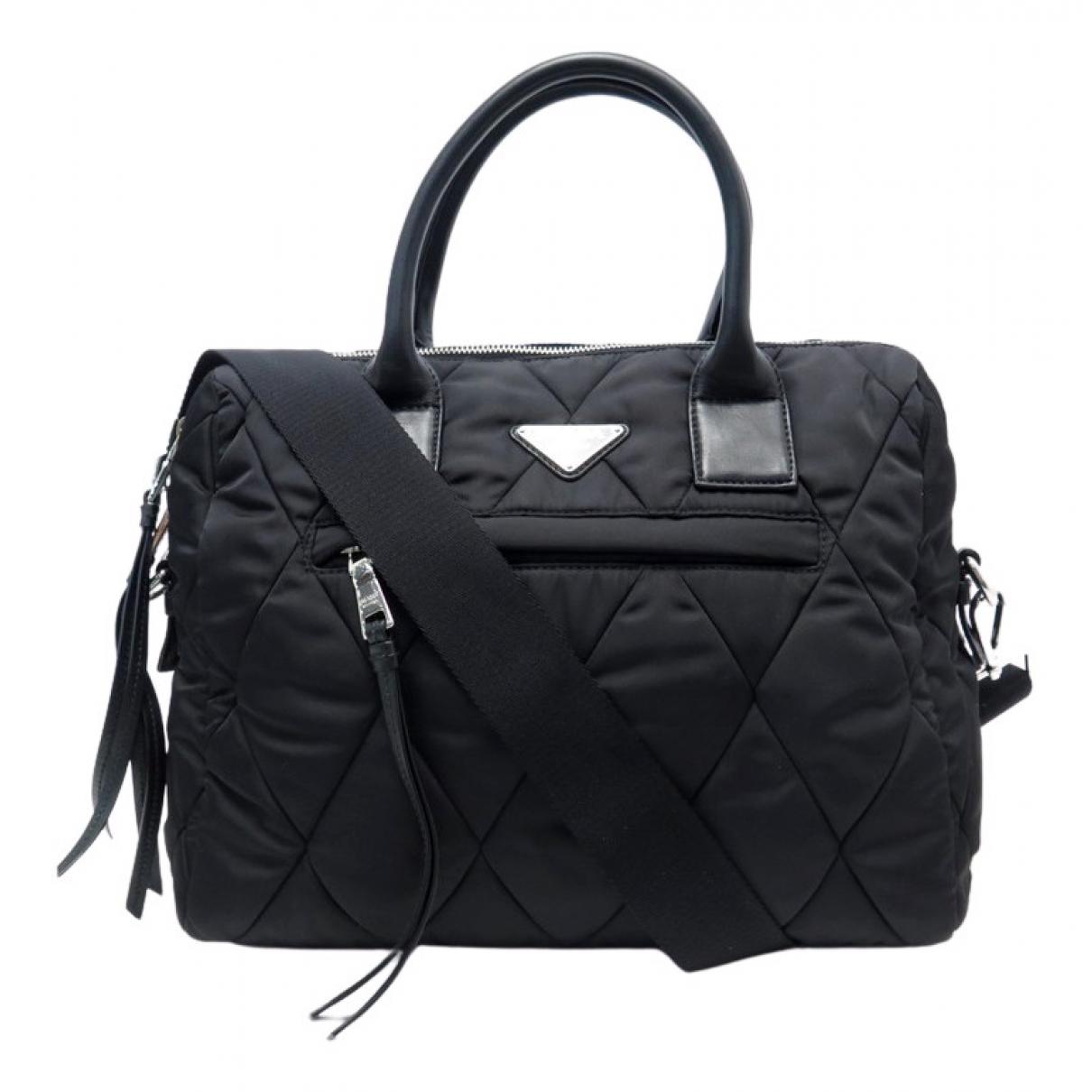 Prada Tessuto  Black Cloth handbag for Women N