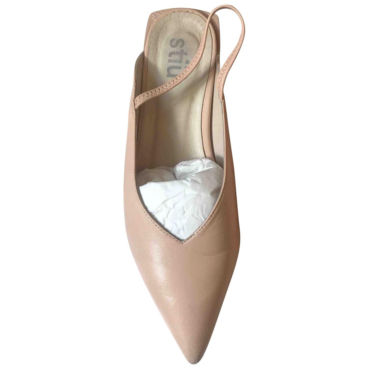 Non Signe / Unsigned \N Ballerinas in  Rosa Leder