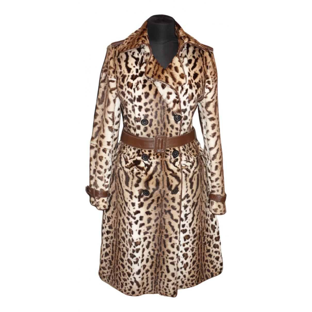 Thes & Thes - Manteau   pour femme en fourrure - marron