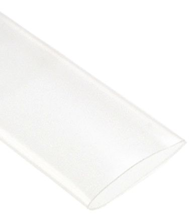 TE Connectivity Heat Shrink Tubing, Clear 9.5mm Sleeve Dia. x 1.2m Length 2:1 Ratio, RW-175 Series