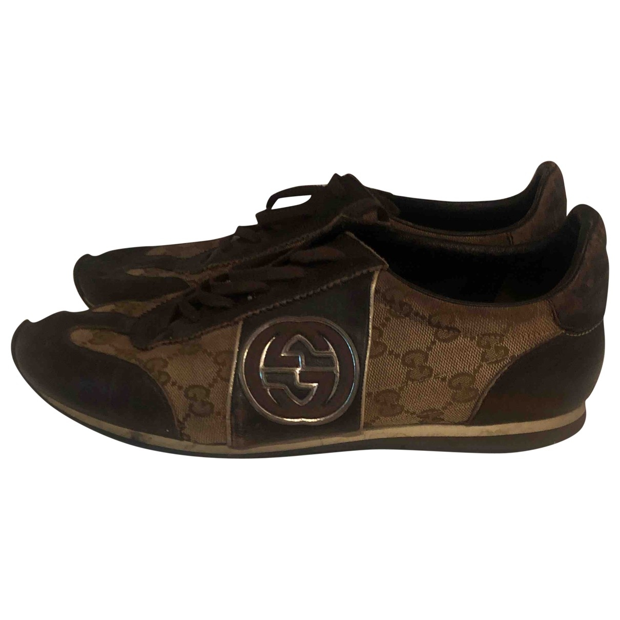 Gucci \N Brown Cloth Trainers for Men 43 EU
